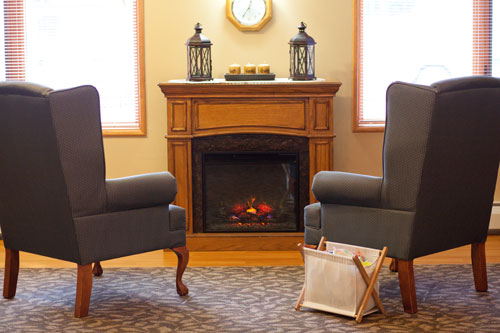 Brookstone Manor Library Fireplace